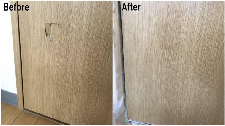 【ドア穴修理の施工事例】