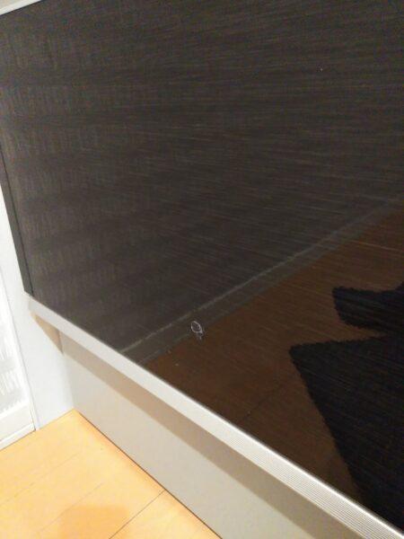 鏡面仕上げのキッチンパネルにできたキズ(茨城県土浦市)